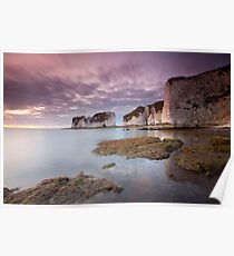 Low Tide, Old Harry Rocks Poster
