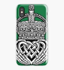 Skeleton Claddagh Black and White iPhone Case/Skin