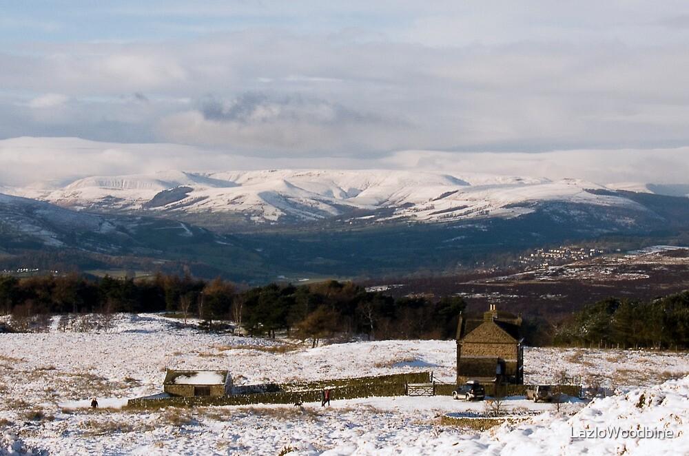 White Edge Snowscape: The Peak District by LazloWoodbine