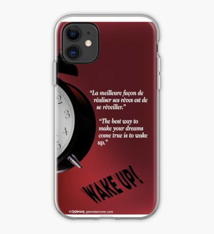 Wake Up! (quotation) iPhone Case