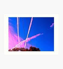 Sky Trails Art Print