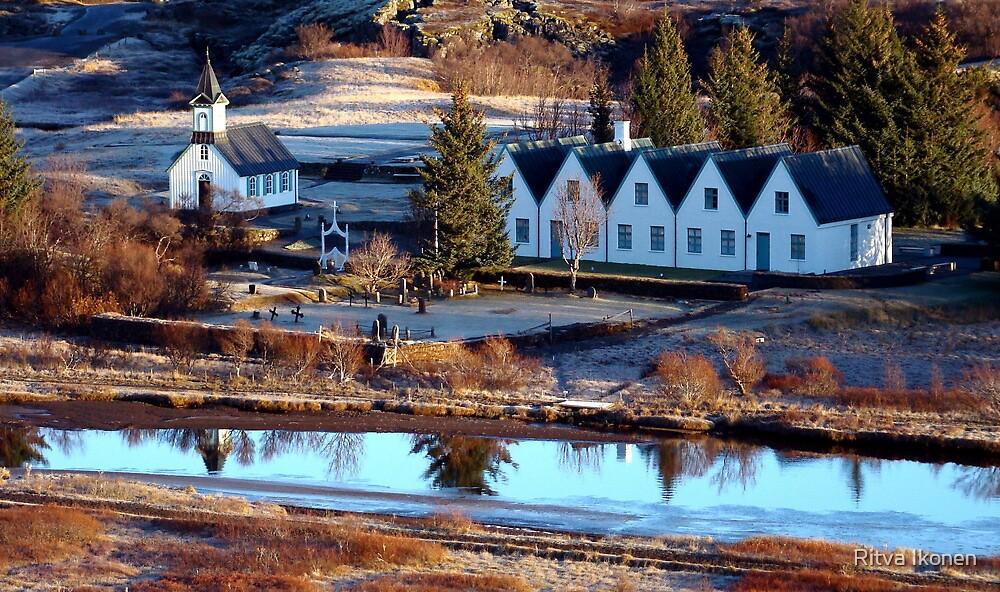 A Church by the River by Ritva Ikonen
