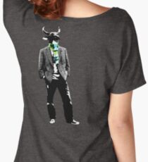 Cow Head on white Women's Relaxed Fit T-Shirt