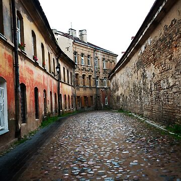 OLD TOWN Vilnius Lithuania, Color Photograph by bjphotographs