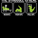 The Struggle Is Real Dinosaur Workout von mjacobp
