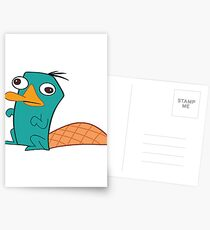 Perry The Platypus Postcards