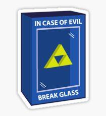In Case Of Evil... Sticker