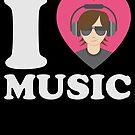 I Love Music Musician Heart Music Lover von mjacobp