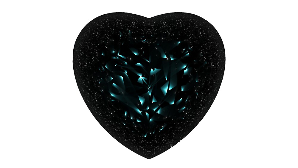 Black Diamond Heart by wolfepaw