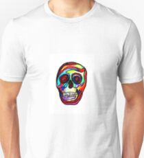 "Trippy ""Stained Glass Skull"" Art by VCalderon  Unisex T-Shirt"