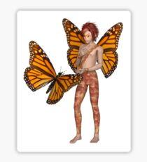 Monarch Butterfly Fairy Boy Sticker