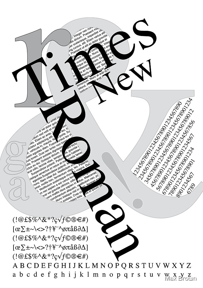Times New Roman by Max Brown