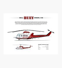 Bell Huey Helicopter (Model 412) Ambulance Victoria Photographic Print