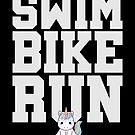 Swim Bike Run Unicorn Triathlon von mjacobp