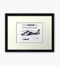 Eurocopter AS.365N3 Dauphin Helicopter - Victoria Police Air Wing Framed Print