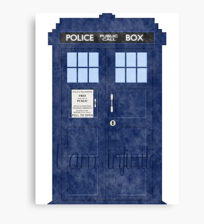 Doctor Who TARDIS - Cloudy 'I am Infinite' Canvas Print