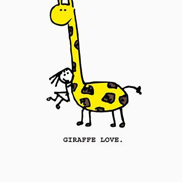 Giraffe Love. by mog2910