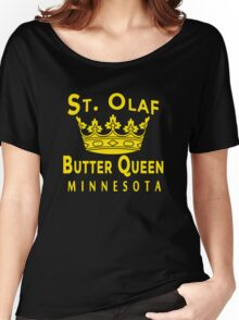 ST OLAF BUTTER QUEEN WITH CROWN Women's Relaxed Fit T-Shirt