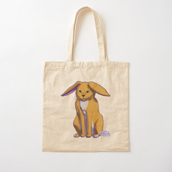Sitting Cat Bunny Cotton Tote Bag
