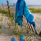 """Sandy Blues"" - flip flops at Cape May, New Jersey by ArtThatSmiles"