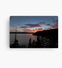 Lake Coeur D' Alene colors Canvas Print