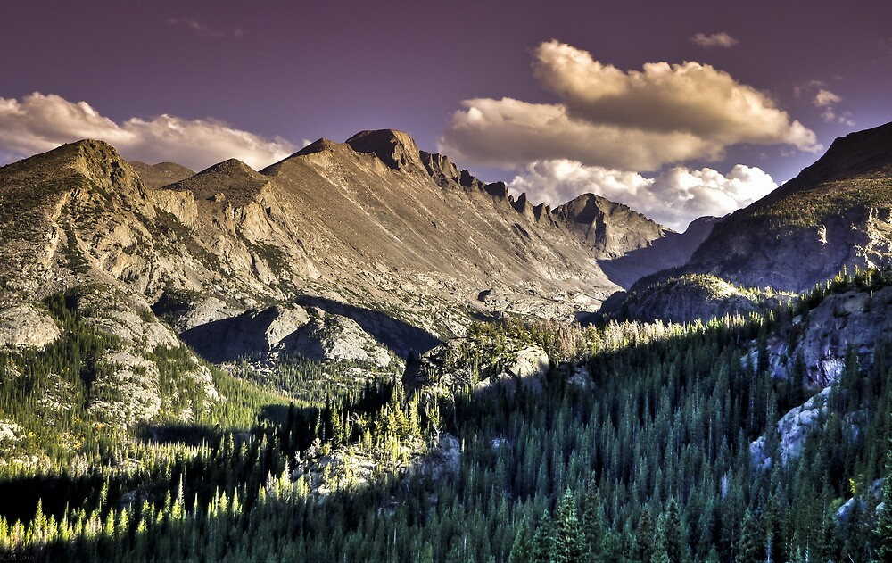 Rocky Mountain National Park Peaks by ShotByAWolf
