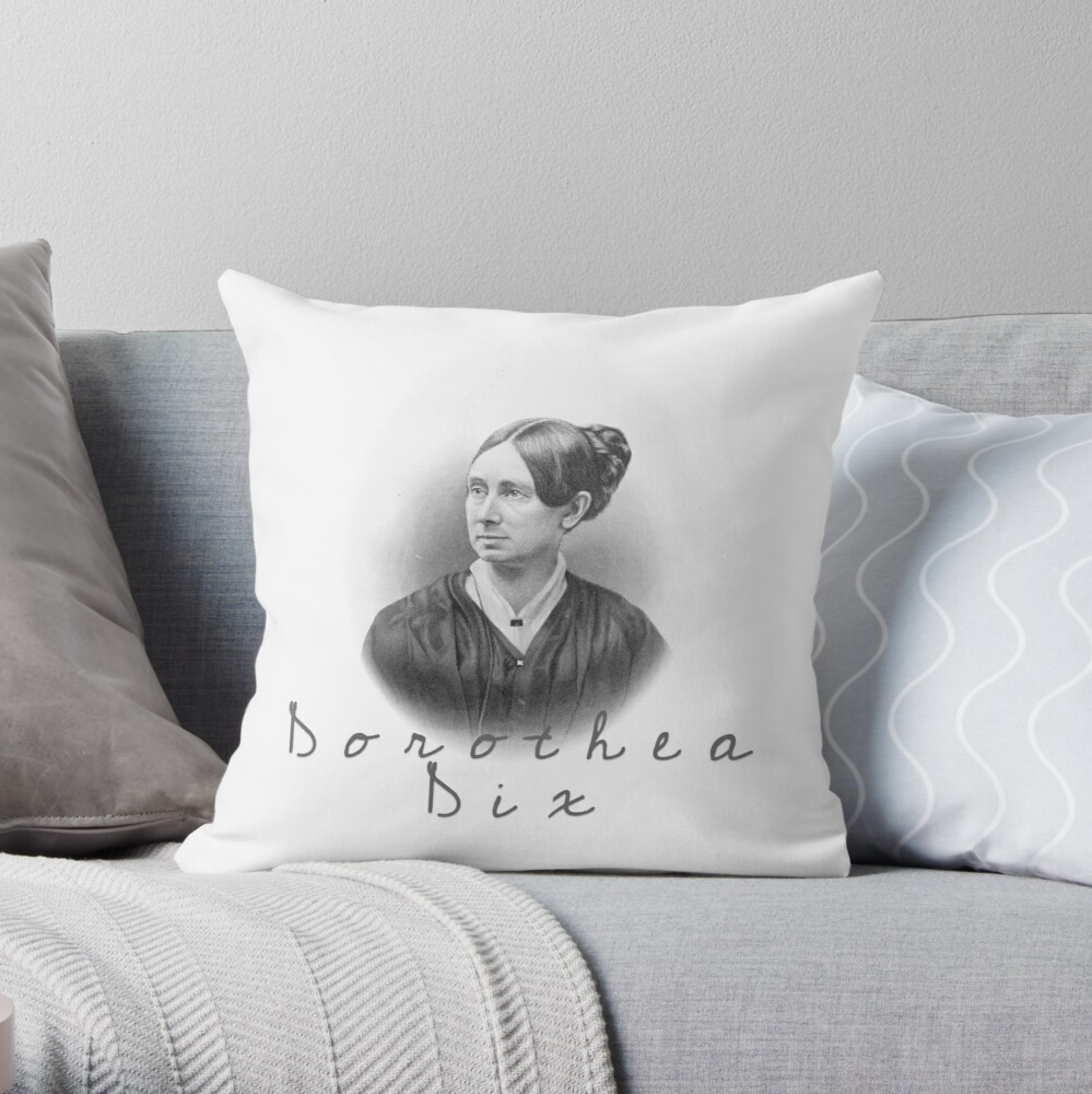 Dorothea Dix Throw Pillow