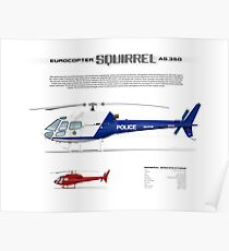 Eurocopter AS.350 Squirrel Helicopter (A-Star, Ecureuil) Poster