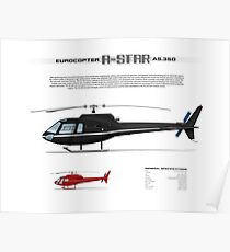 Eurocopter AS.350 A-Star Helicopter (Squirrel, Ecureuil) Poster