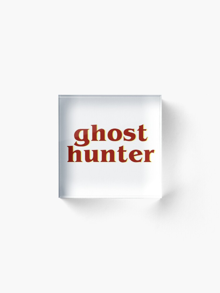 Alternate view of Retro 80s Ghost Hunter Acrylic Block