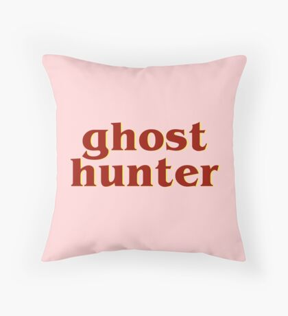 Retro 80s Ghost Hunter Throw Pillow