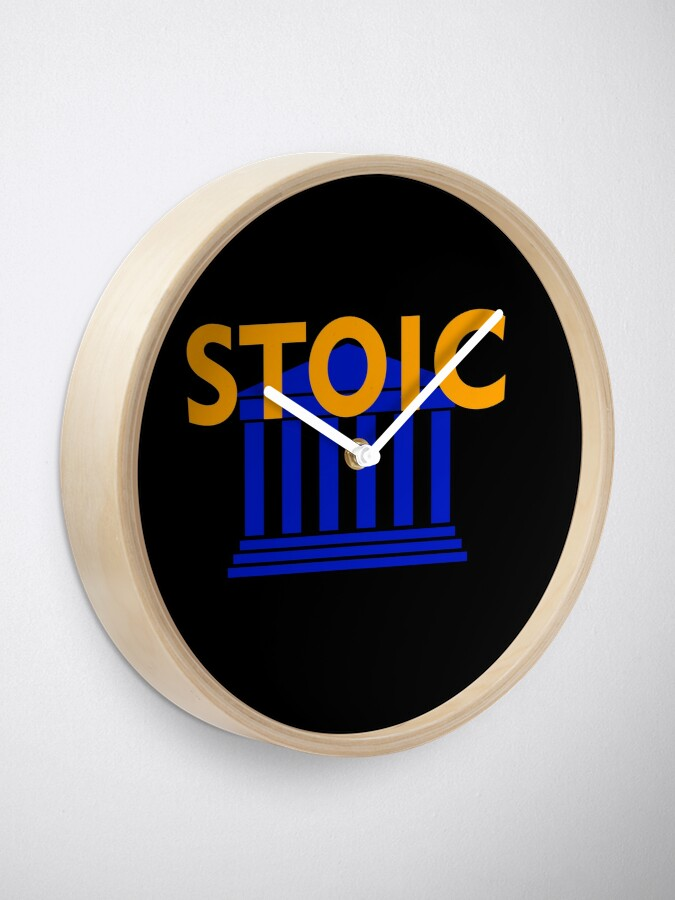 Alternate view of Stoic - Stay Stoic - Find Freedom Clock