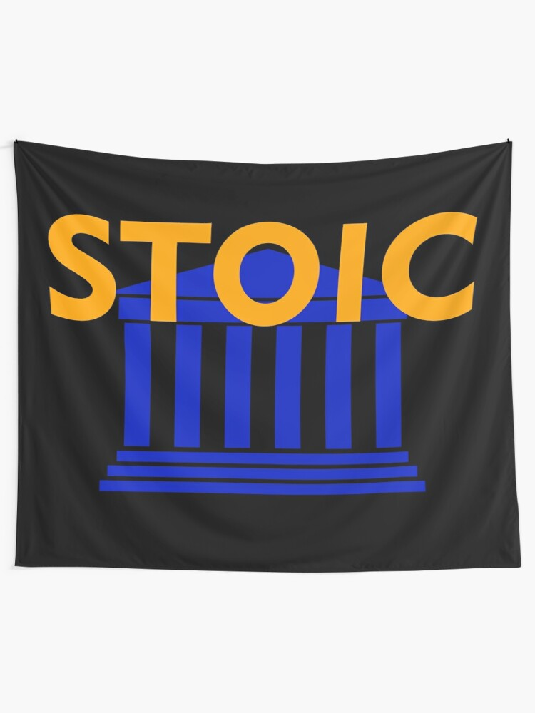 Alternate view of Stoic - Stay Stoic - Find Freedom Tapestry