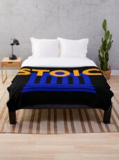 Stoic - Stay Stoic - Find Freedom Throw Blanket