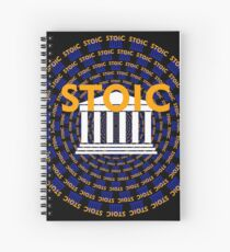 Stoic - Keep Stoic - Seek Happiness Spiral Notebook