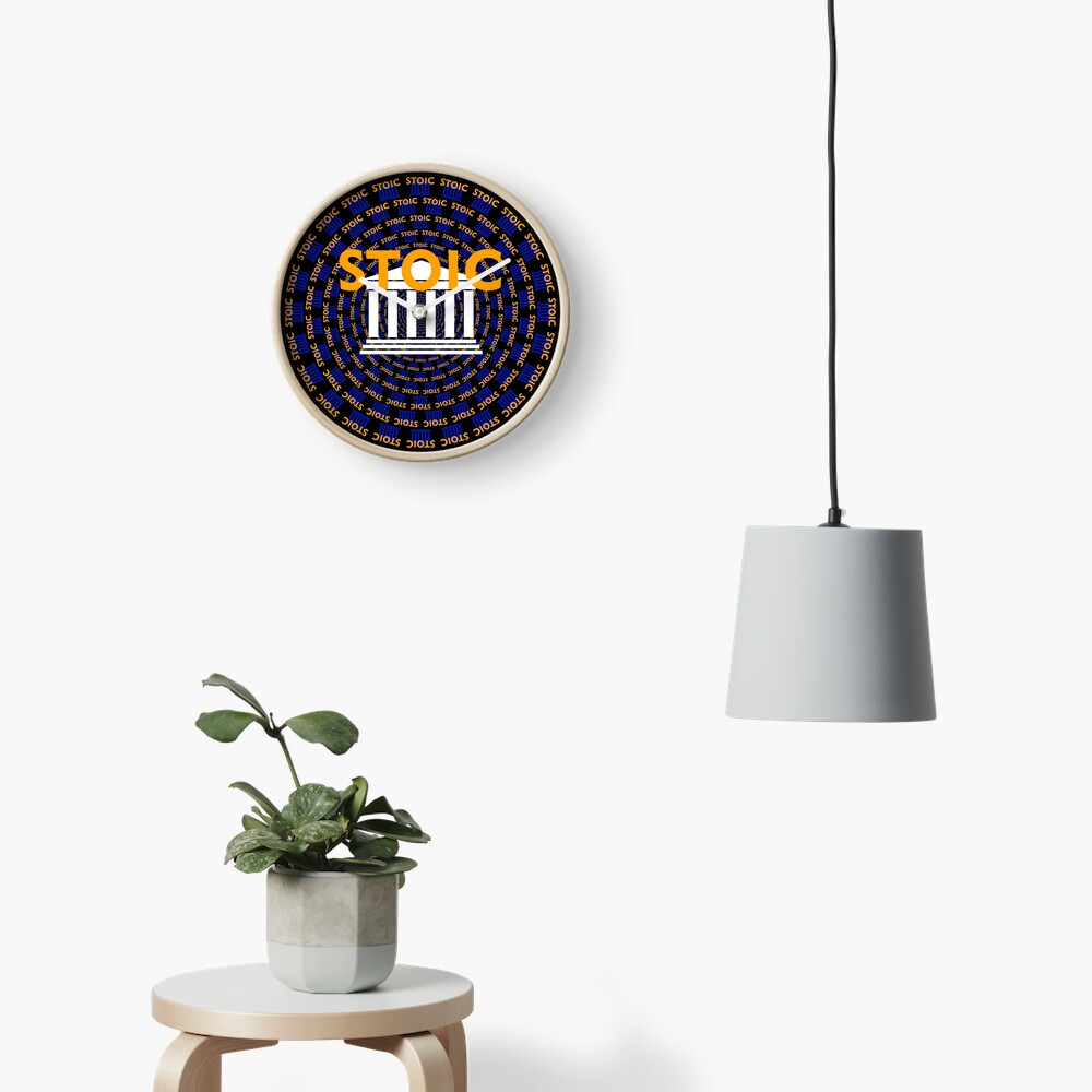 Stoic - Keep Stoic - Seek Happiness Clock