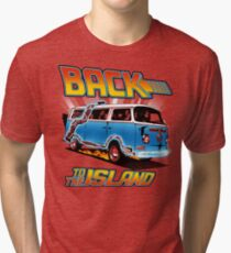 Back to the Island Lost And Back to the Future Spoof Tri-blend T-Shirt