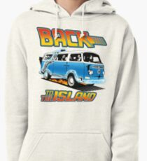 Back to the Island Lost And Back to the Future Spoof Pullover Hoodie