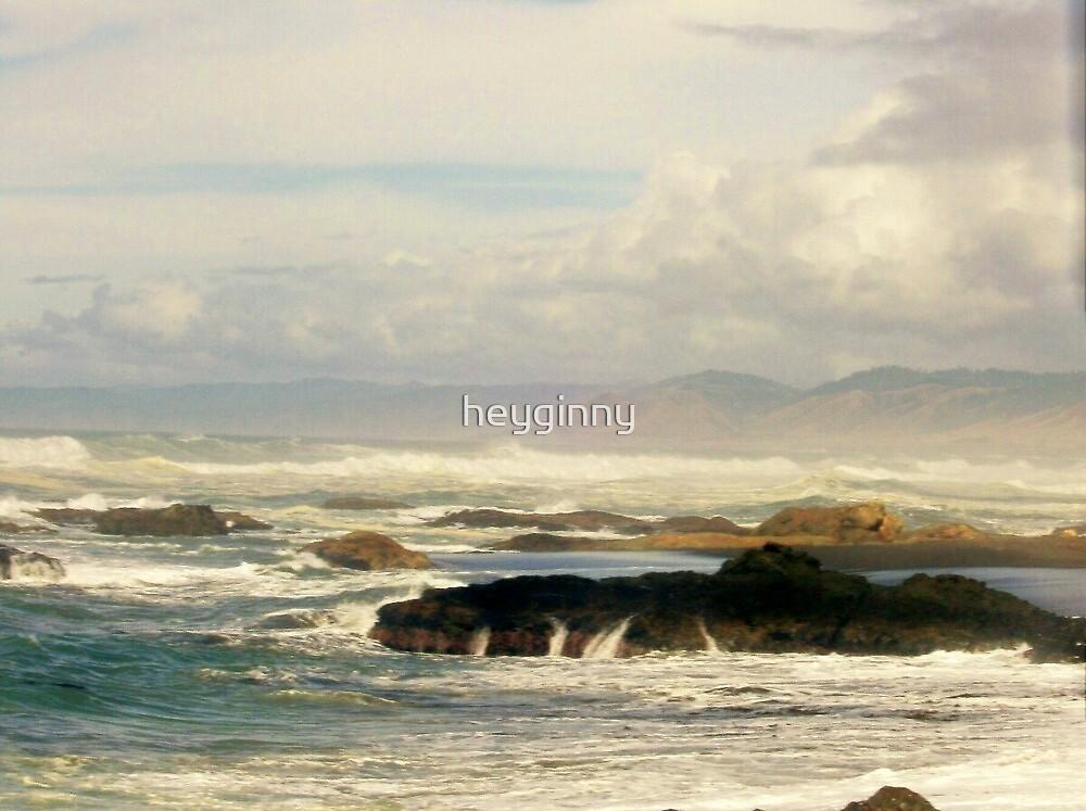 stormy Weather on the Beach by heyginny