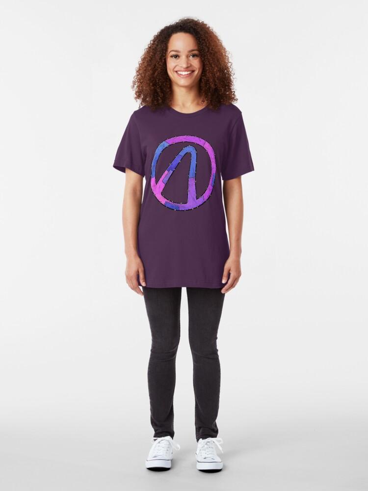 Alternate view of Vault Symbol Stitched Eridium - Borderlands Slim Fit T-Shirt