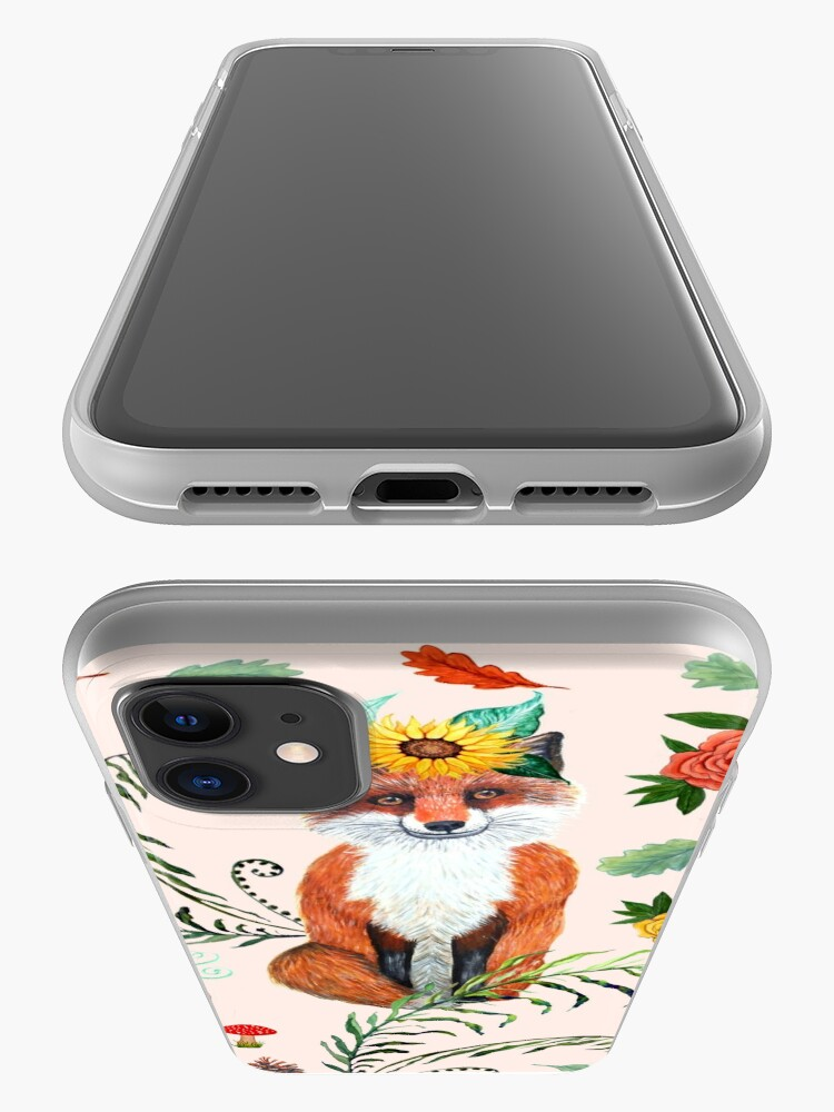 Alternate view of FOX FALL THANKFUL iPhone Case & Cover