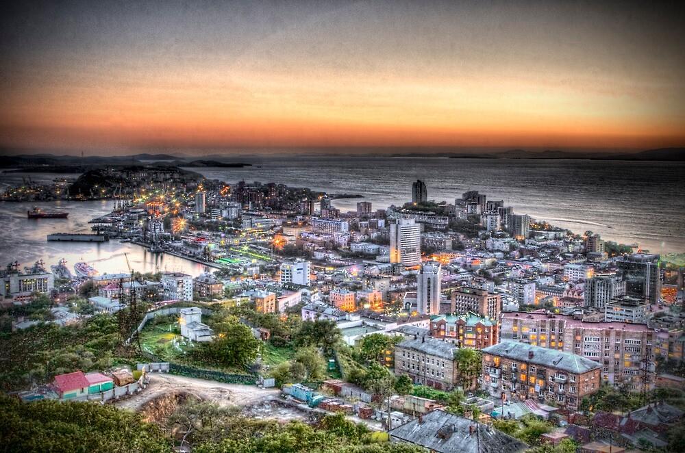 Vladivostok City at Sunset by Andrey Vostrikov