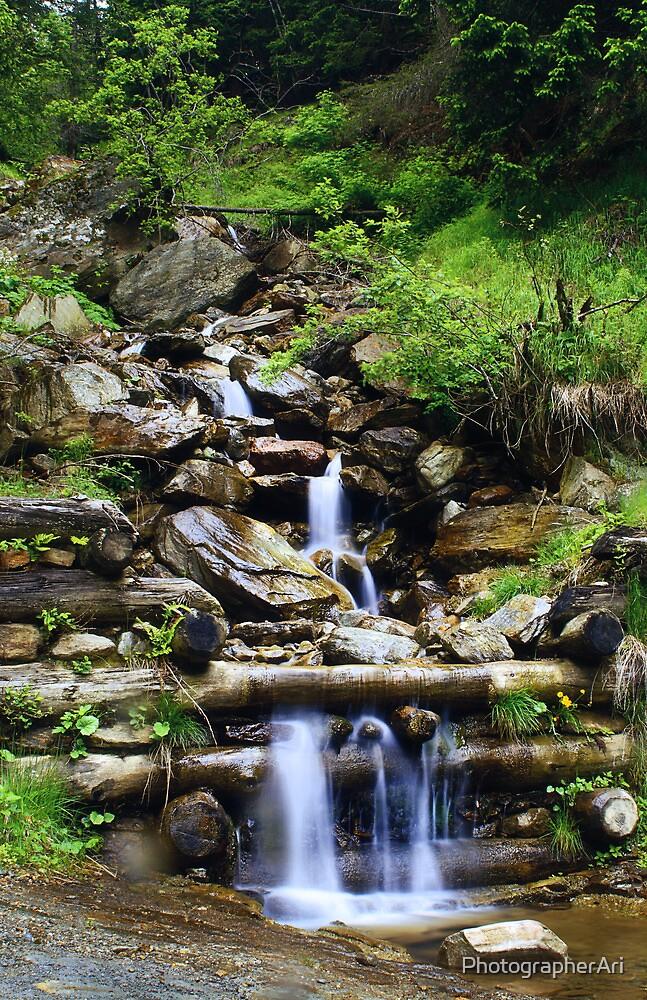 Waterfall in Italy by PhotographerAri