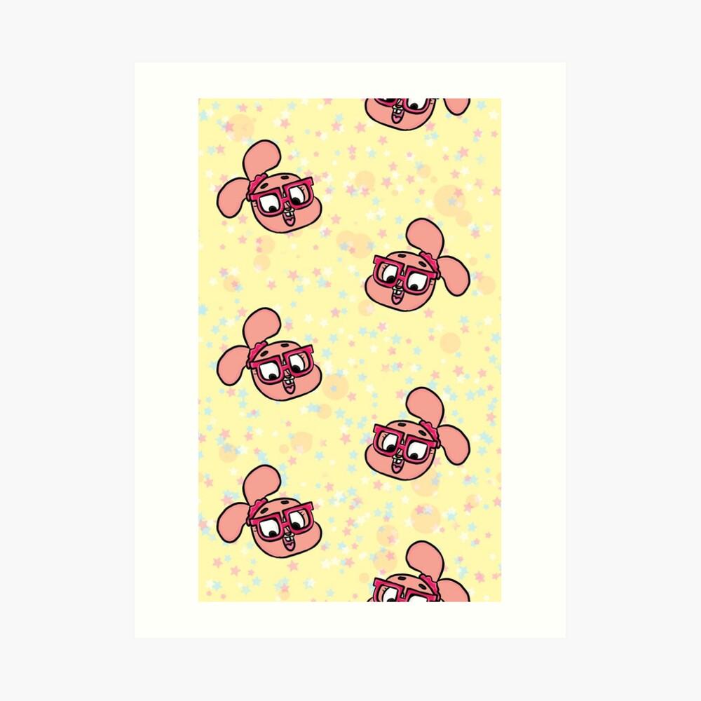 Anais Watterson Pattern - The Amazing World of Gumball Art Print