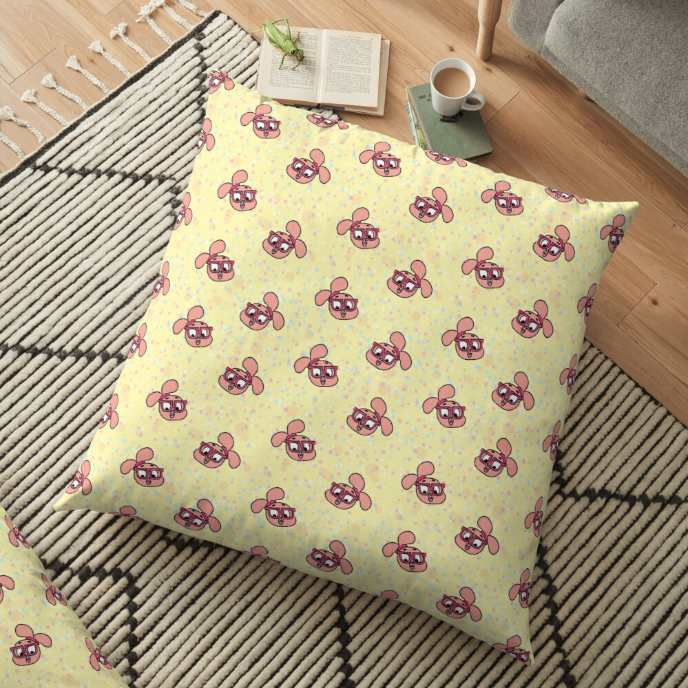 Anais Watterson Pattern - The Amazing World of Gumball Floor Pillow