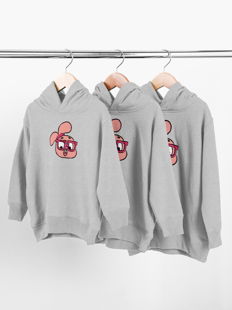 Alternate view of Nerdy Anais Watterson - The Amazing World of Gumball Toddler Pullover Hoodie