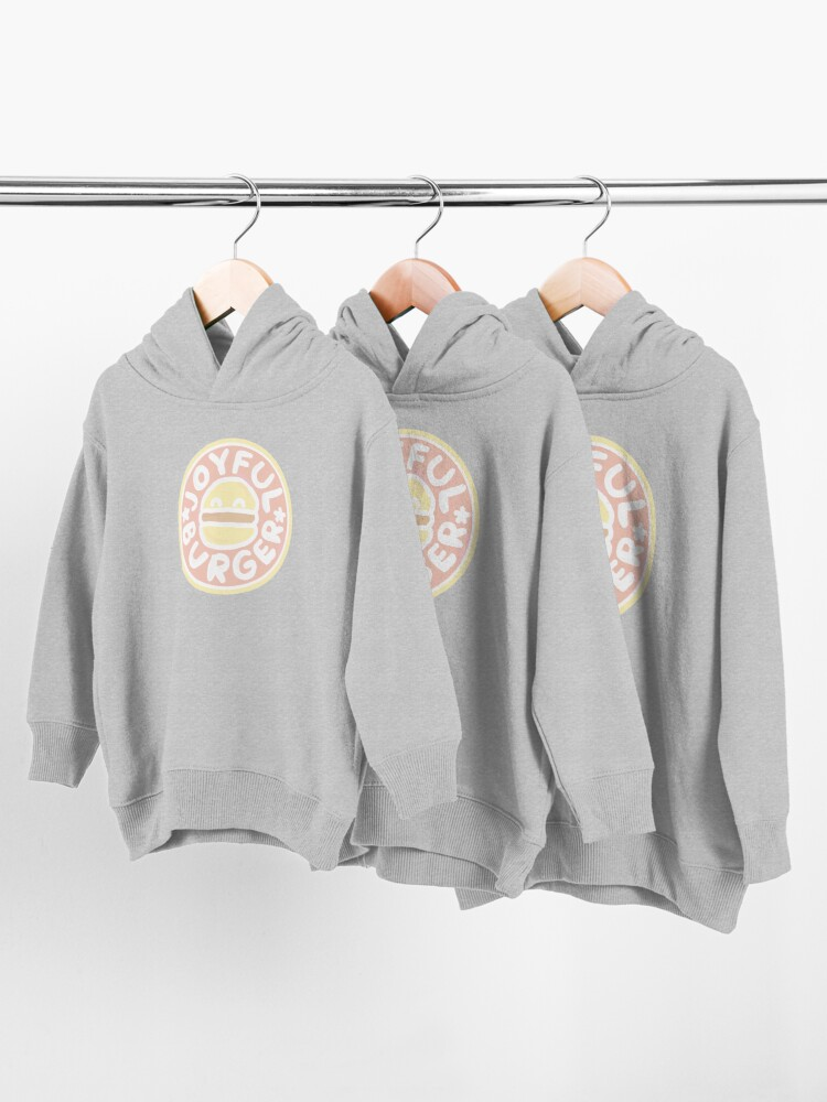 Alternate view of Pastel Joyful Burger Doodle - The Amazing World of Gumball Toddler Pullover Hoodie
