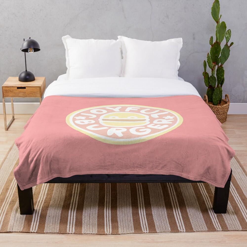 Pastel Joyful Burger Doodle - The Amazing World of Gumball Throw Blanket