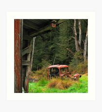 Rusted Truck Art Print