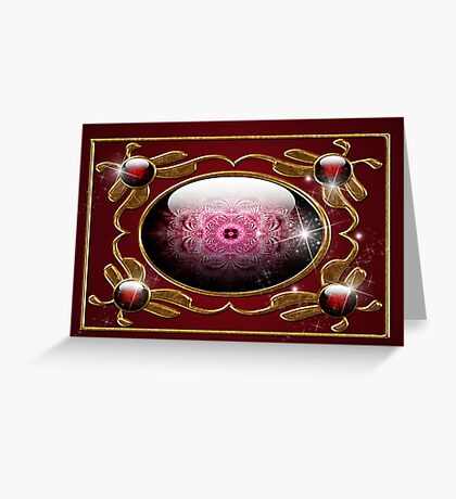 Jewel of the Ancients # 3: Part of the Red Jewel Series Greeting Card